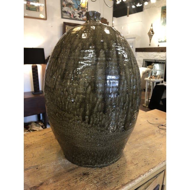 Four Gallon Glazed Stoneware Jug For Sale - Image 9 of 13