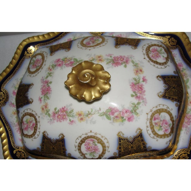 Blue Limoges Display Collector Casserole Covered Dish For Sale - Image 8 of 11