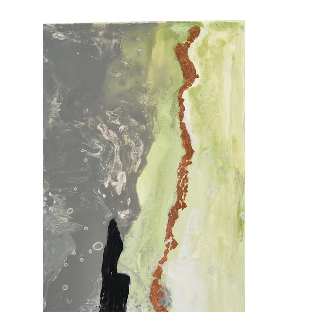 """Contemporary Abstract Painting """"Copper Field"""" by Ashley Mayel For Sale In Austin - Image 6 of 9"""