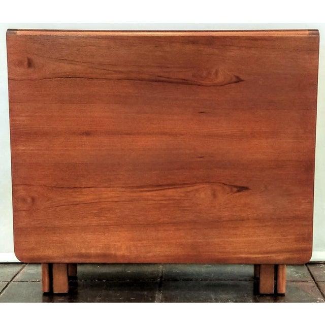 """Vintage 1960s Mid-Century Norwegian Modern Bendt Winge """"Ellipse"""" Style Gate-Leg Drop-Leaf Table For Sale - Image 9 of 11"""