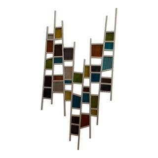 Kelly Johnston for Nova Art Studio Modern Mixed Metal Wall Art Sculpture For Sale