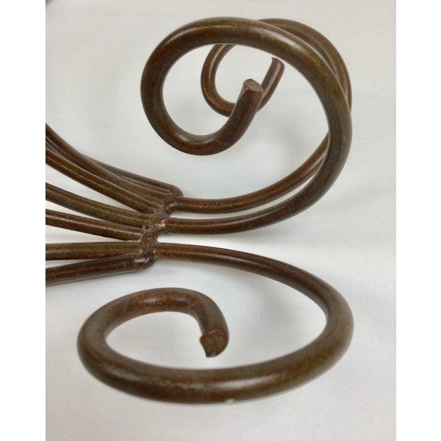 Vintage Steel Wall Pan Holder Shelf For Sale - Image 9 of 13