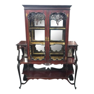 Victorian Display Cabinet Etagere For Sale