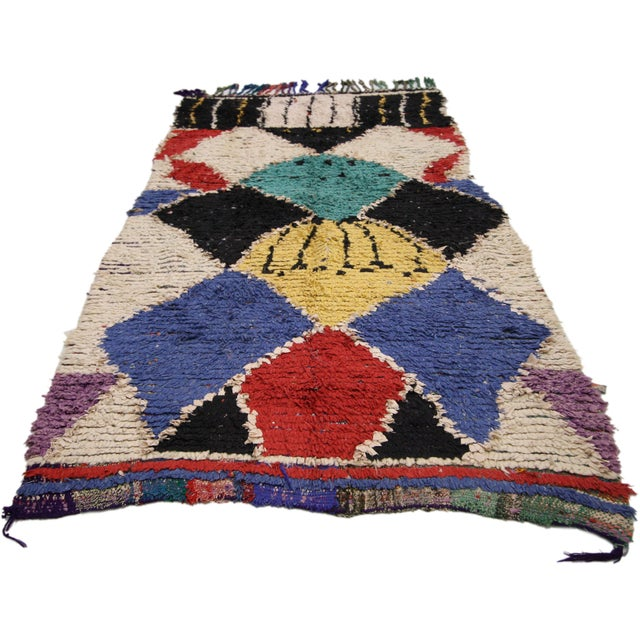 Contemporary Vintage Berber Moroccan Runner With Tribal Style - 3'8 X 7'9 For Sale - Image 3 of 6