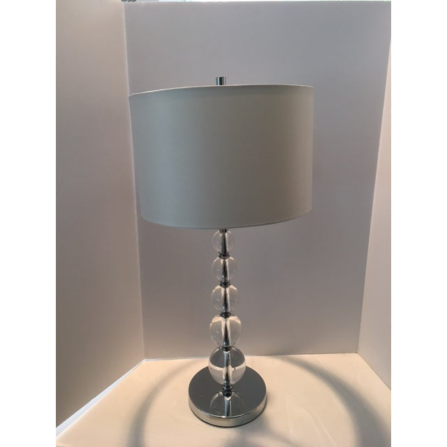 Contemporary Contemporary Crystal Ball Table Lamp For Sale - Image 3 of 10