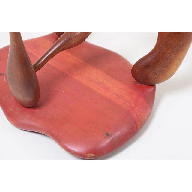 Wood Studio Craft Wooden Stool by Ron Curtis, Us, 1950s For Sale - Image 7 of 8