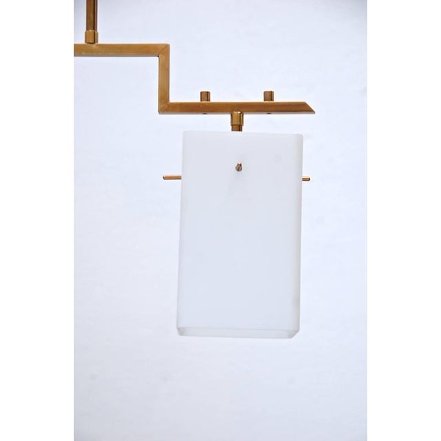 Gold Mid-Century Cube Pendant For Sale - Image 8 of 8