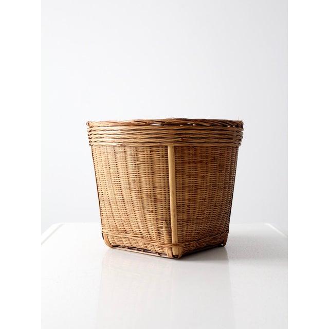 Vintage Woven Reed Basket - Image 10 of 10