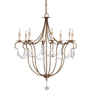 Currey & Co. Crystal Lights Chandelier For Sale