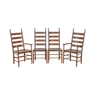 Keystone Collection Solid Cherry Set of 4 Ladder Back Dining Chairs