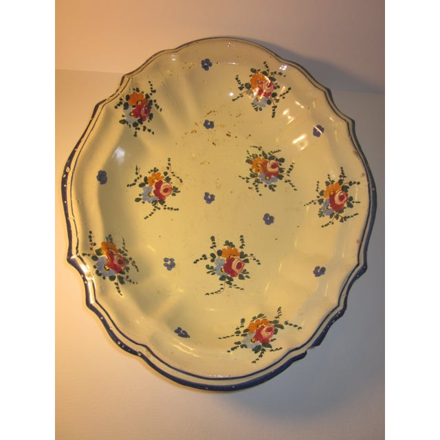 Country Vintage Hand-Painted Italian Fruit Platter For Sale - Image 3 of 12