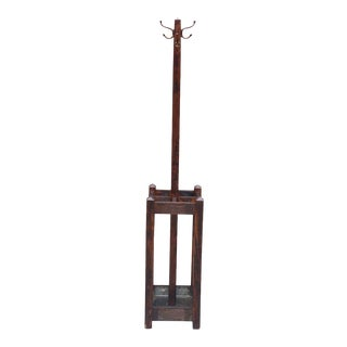 Antique Arts & Crafts Mission Quartersawn Oak Coat Rack Umbrella Stand For Sale