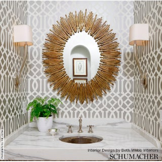 Schumacher Imperial Trellis Wallpaper in Silver - 2-Roll Set (9 Yards) Preview