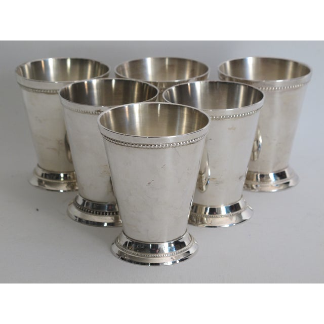 Silver-plated Julep Cups - S/6 - Image 4 of 6