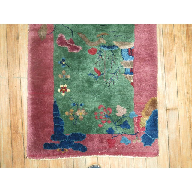 Art Deco Chinese Art Deco Rug, 2'1'' x 3'10'' For Sale - Image 3 of 8