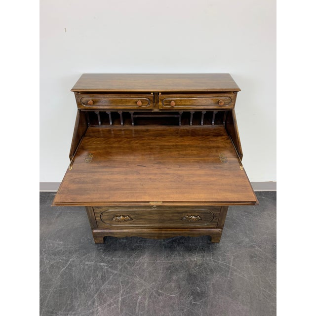 Wood Davis Cabinet Lillian Russell Solid Walnut Victorian Slant Drop Front Desk 2 For Sale - Image 7 of 13