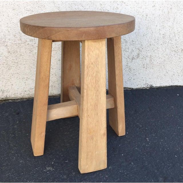 Simple Teak Stool - Image 2 of 6