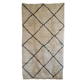 "Moorish Beni Ourian Wool Rug - 61"" X 108"" For Sale"