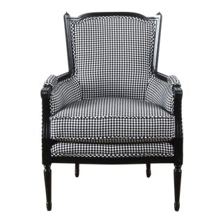 Mid-Century Modern Highland House Black and White LIV Armchair