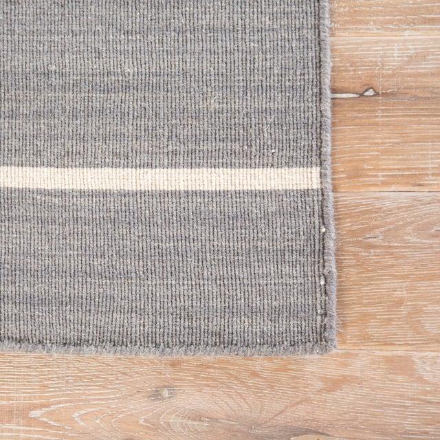 Contemporary Jaipur Living Cape Cod Handmade Stripe Gray & White Area Rug - 2' X 3' For Sale - Image 3 of 6
