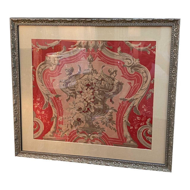 Vintage French Framed Fabric For Sale