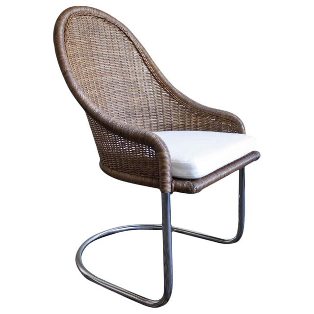 McGuire Cantilever Chair Coco Finish For Sale