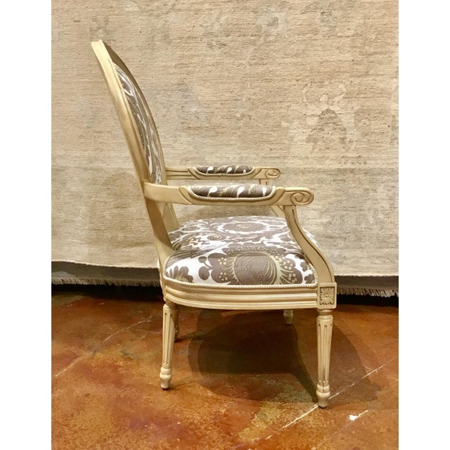 Taupe & Ivory Avery Chairs - a Pair For Sale - Image 4 of 8