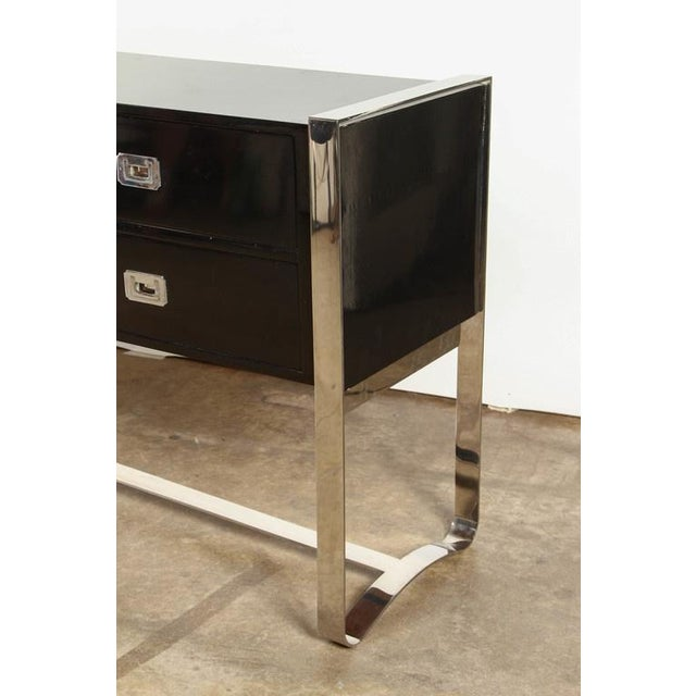Steel & Wood Sideboard with Black Enamel Finish - Image 2 of 9