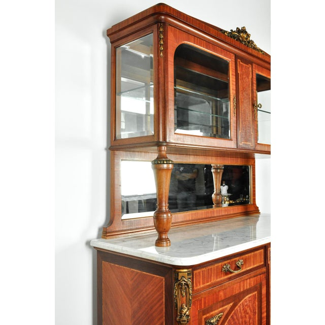 Antique Sandwood Mahogany Hutch or Cabinet For Sale - Image 12 of 13
