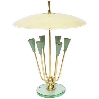 Italian Table Lamp in Manner of Fontana Arte For Sale