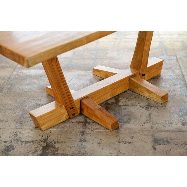 Wood George Nakashima Style Conoid Dining table For Sale - Image 7 of 10