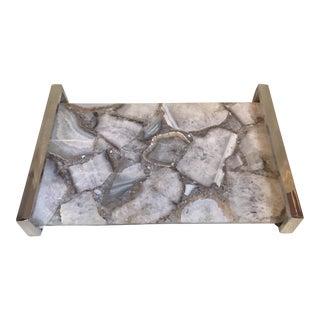 White Quartz Crystal Tray