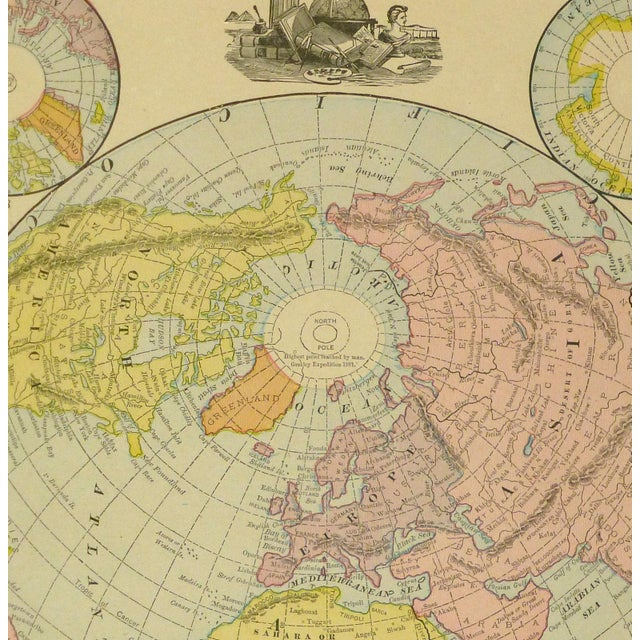World Map, 1890 - Image 2 of 3