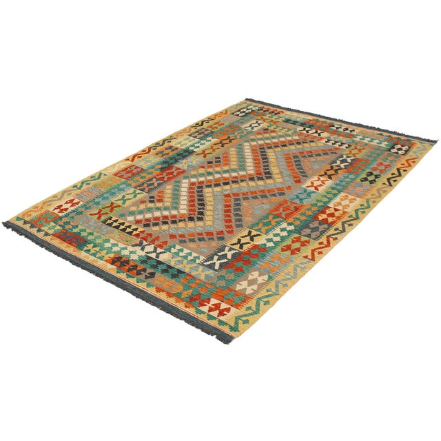 Up for sale is a Turkish Sivas Rug. This Is A Handmade, Hand-Knotted flat weave rug.