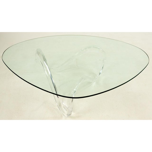 Knut Hesterberg Knut Hesterberg Lucite Noguchi Style Coffee Table For Sale - Image 4 of 5