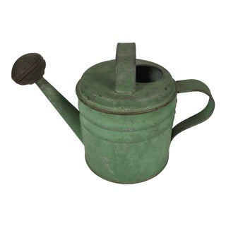 Vintage English Green Watering Can For Sale