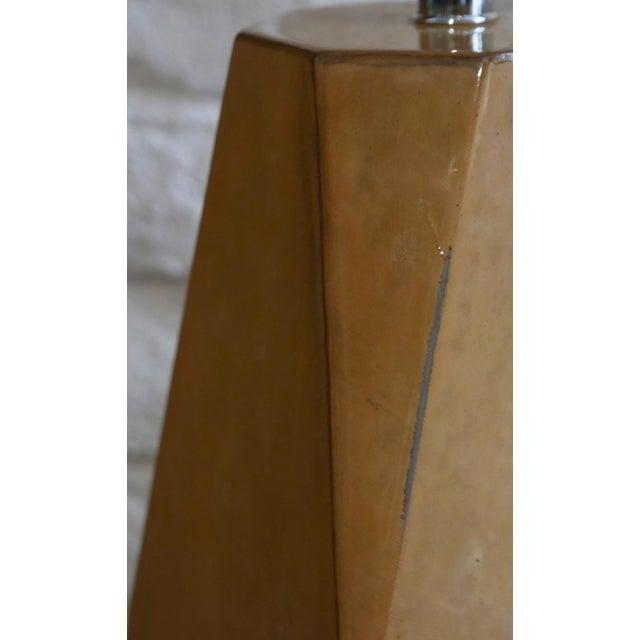 Karl Springer Style Vintage Goatskin Lamp For Sale - Image 4 of 7