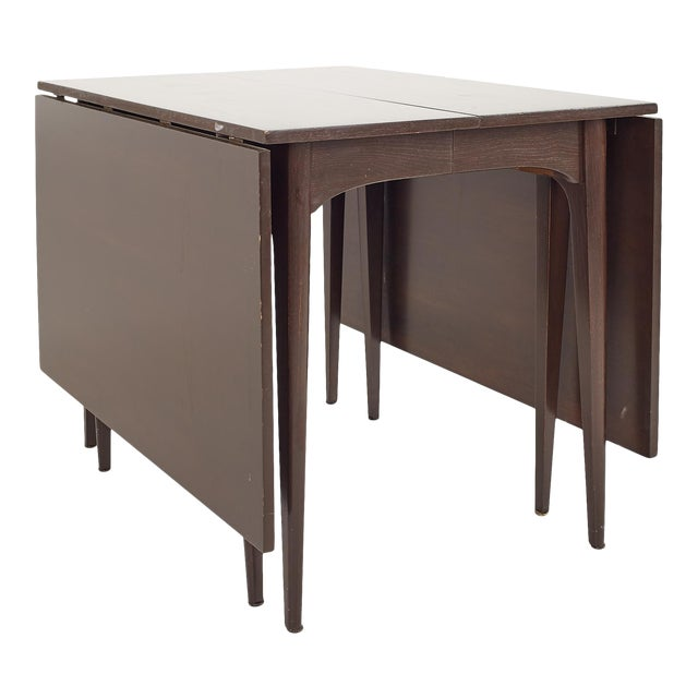 Kroehler Refinished Mid Century Drop Leaf Dining Table For Sale
