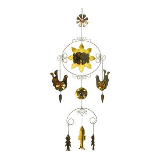Brass & Copper Decorative Mobile After Bustamante For Sale