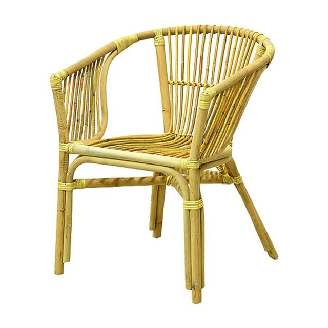 Julia Rattan Armchair From Indonesia For Sale - Image 4 of 4