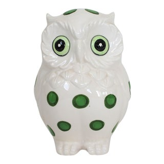 Vintage White Owl Planter