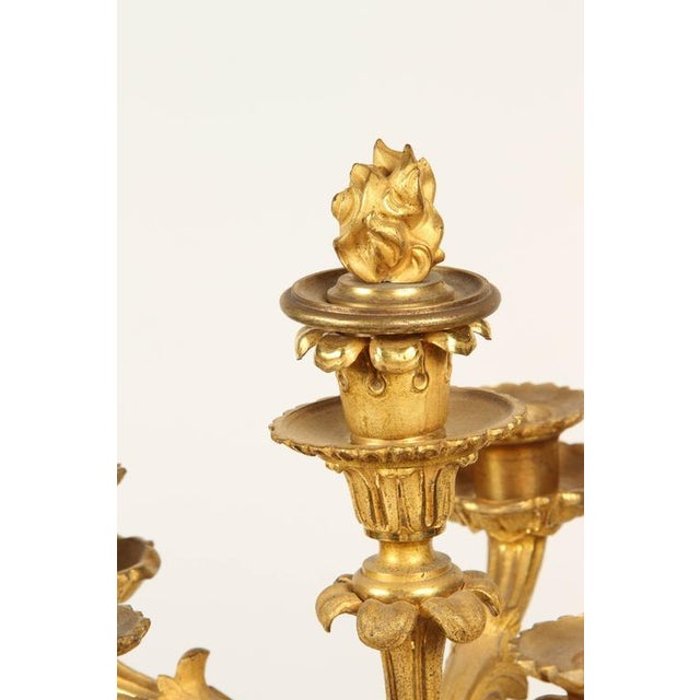 Early 19th Century Pair of Large Gilt Bronze Candelabra For Sale - Image 5 of 8