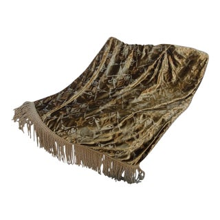 Custom Nomi Stenciled Throw With Fringe For Sale