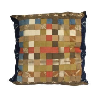 Blue MIX Color Square Shape Checker Fabric Couch Sofa Cushion For Sale