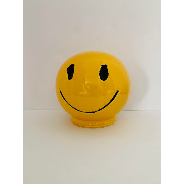 """1970s 1970s Vintage """"Have a Nice Day"""" Smiley Face Ceramic Bank For Sale - Image 5 of 6"""