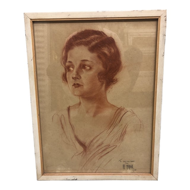 Vintage Arthur Ragland Momand Original Portrait For Sale