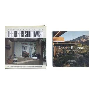 Southwest Desert Style Living Books - Set of 2 For Sale