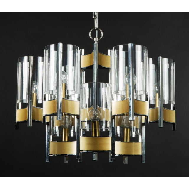 Gold Hurricane Chandelier by Gaetano Sciolari For Sale - Image 8 of 11
