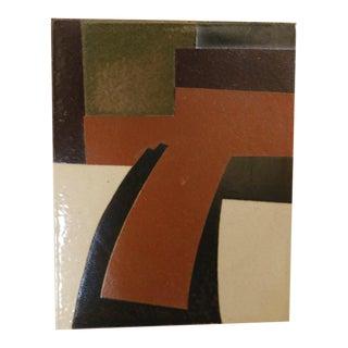 Abstract Modernist Trivet Tile by David Gil for Bennington Pottery For Sale