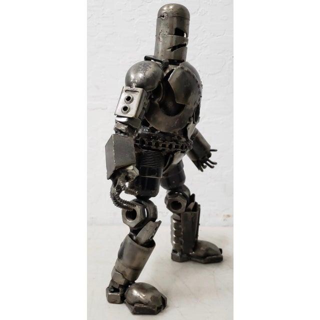 Heavy Gauge Scrap Metal Robot Sculpture Fantastic Robot Warrior metal sculpture. This is really a great piece. It's hand...
